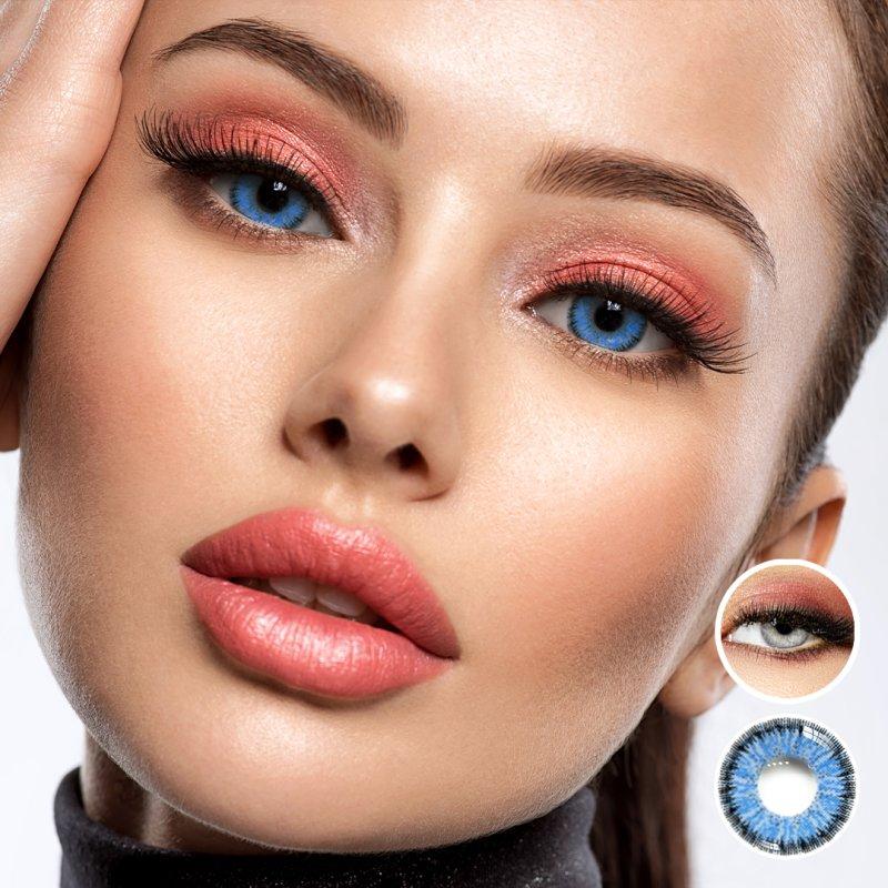 farbige blaue kontaktlinsen ocean blue mit und ohne st rke dioptr 12 99. Black Bedroom Furniture Sets. Home Design Ideas