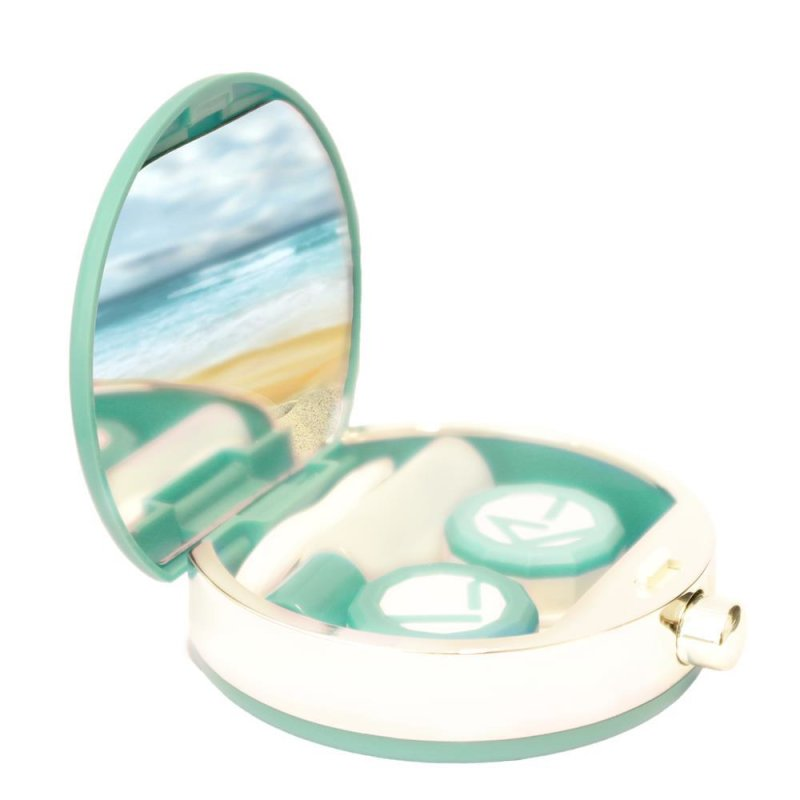 kontaktlinsen aufbewahrungsbox set portemonnaie gr n. Black Bedroom Furniture Sets. Home Design Ideas