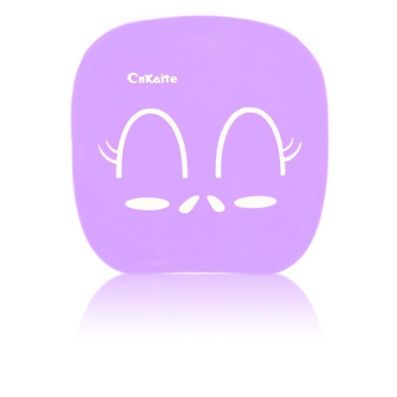 kontaktlinsen aufbewahrungsbox set face smiley in lila. Black Bedroom Furniture Sets. Home Design Ideas